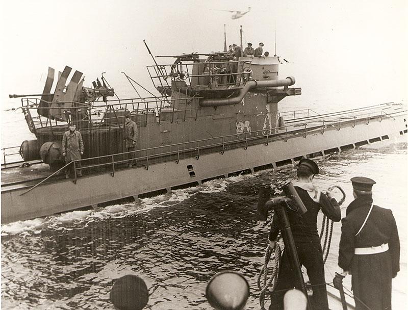 U-889 was overflown by a U 889